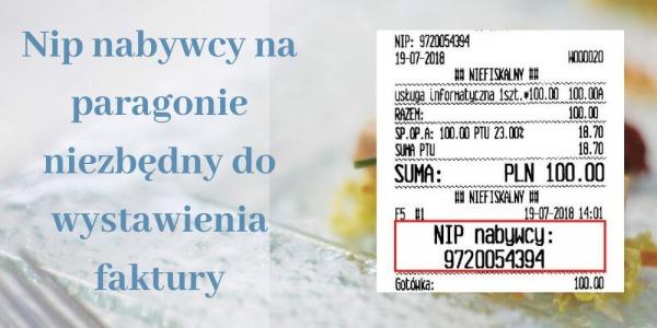 Od 01.09.2019r koniec wystawiania faktur Vat na podstawie pargonów bez NIP-u nabywcy